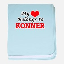 My heart belongs to Konner baby blanket