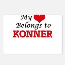 My heart belongs to Konne Postcards (Package of 8)