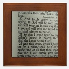 Bible Scripture - Tithes Framed Tile