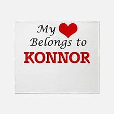 My heart belongs to Konnor Throw Blanket