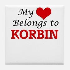 My heart belongs to Korbin Tile Coaster