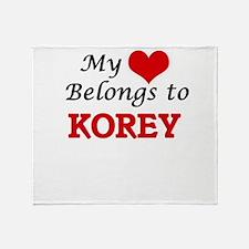 My heart belongs to Korey Throw Blanket
