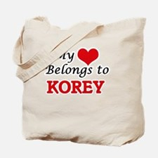 My heart belongs to Korey Tote Bag