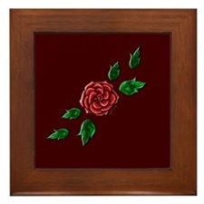 Rose Elegance Framed Tile