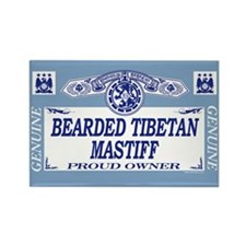 BEARDED TIBETAN MASTIFF Rectangle Magnet (100 pack