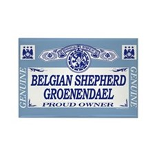 BELGIAN SHEPHERD GROENENDAEL Rectangle Magnet