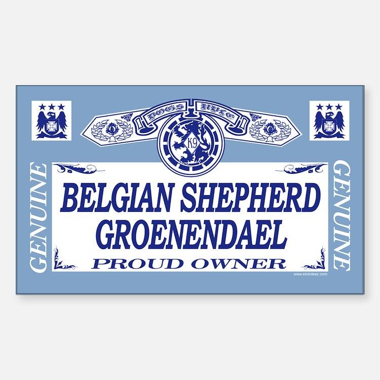 BELGIAN SHEPHERD GROENENDAEL Rectangle Decal