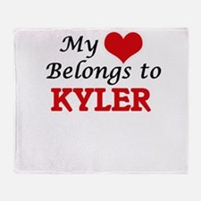 My heart belongs to Kyler Throw Blanket