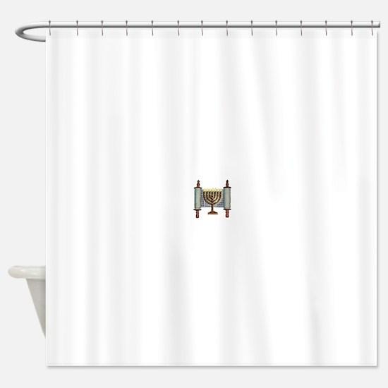 Unique Hebrew Shower Curtain
