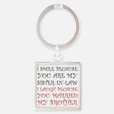 Smile Sister In Law Keychains