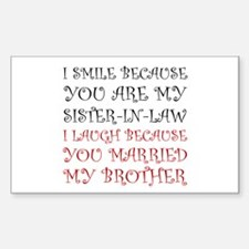 Smile Sister In Law Decal