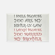 Smile Sister In Law Magnets