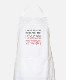 Smile Sister In Law Apron
