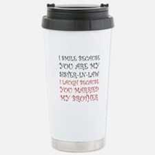 Smile Sister In Law Travel Mug