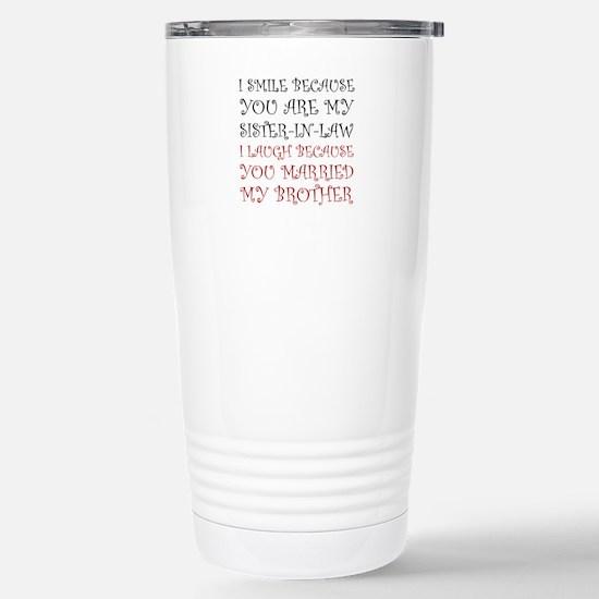 Smile Sister In Law Travel Mug