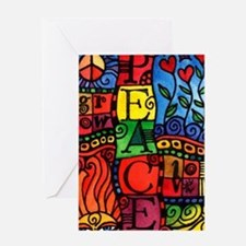 Cute Flower peace sign Greeting Card