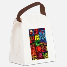 Peace, Love, Grow Canvas Lunch Bag
