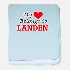 My heart belongs to Landen baby blanket