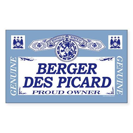 BERGER DES PICARD Rectangle Sticker