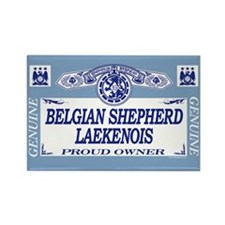 BELGIAN SHEPHERD LAEKENOIS Rectangle Magnet