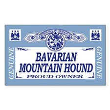 BAVARIAN MOUNTAIN HOUND Rectangle Decal