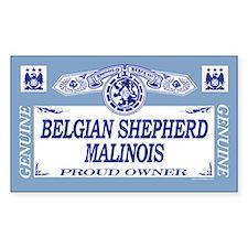 BELGIAN SHEPHERD MALINOIS Rectangle Decal