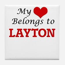 My heart belongs to Layton Tile Coaster