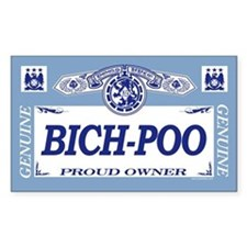 BICH-POO Rectangle Decal