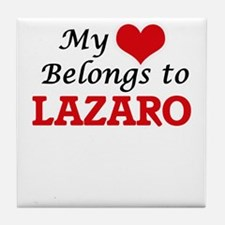 My heart belongs to Lazaro Tile Coaster