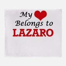 My heart belongs to Lazaro Throw Blanket