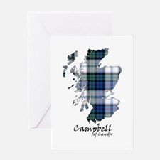 Map-CampbellCawdor dress Greeting Card