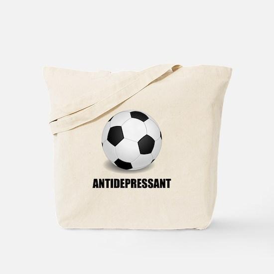 Antidepressant Soccer Tote Bag