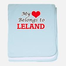 My heart belongs to Leland baby blanket