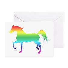 Rainbow Arabian Horse Greeting Card