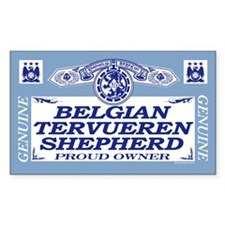 BELGIAN TERVUEREN SHEPHERD Rectangle Decal