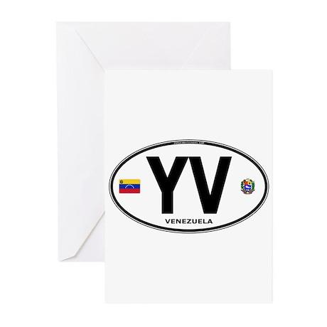 Venezuela Euro Oval Greeting Cards (Pk of 10)
