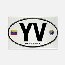 Venezuela Euro Oval Rectangle Magnet