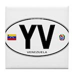 Venezuela Euro Oval Tile Coaster