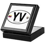 Venezuela Euro Oval Keepsake Box