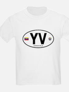 Venezuela Euro Oval T-Shirt