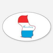 Cool Luxembourg Oval Decal