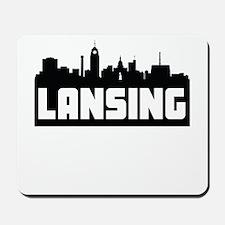 Lansing Michigan Skyline Mousepad