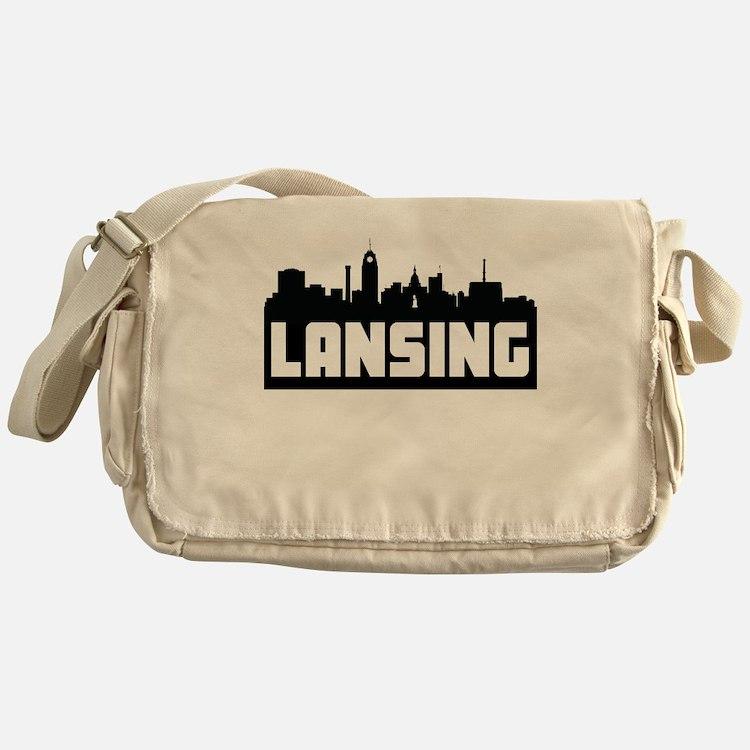 Lansing Michigan Skyline Messenger Bag