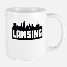 Lansing Michigan Skyline Mugs