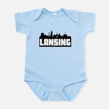 Lansing Michigan Skyline Body Suit
