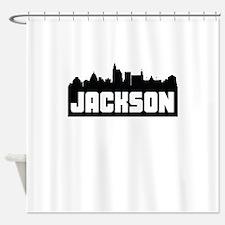 Jackson Mississippi Skyline Shower Curtain