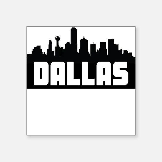 Dallas Texas Skyline Sticker