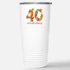 Blooming 40th Birthday Travel Mug