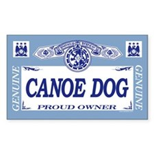 CANOE DOG Rectangle Decal