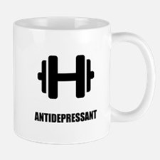 Antidepressant Weightlifting Mugs